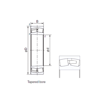230/850EK NACHI Cylindrical Roller Bearings