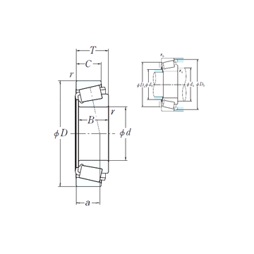 EE649239/649310 NSK Cylindrical Roller Bearings